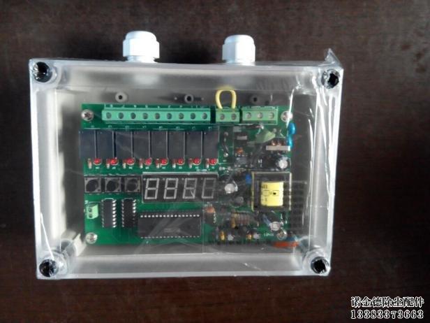 和脉冲间隔输出电信号控制脉冲阀逐个喷吹清灰,它主要由微处理器电路